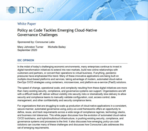 Policy as Code White Paper